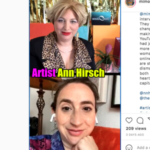 Oriana Fox interviews Artist Ann Hirsch on The O Show live edition on Instagram @mimosahouselondon