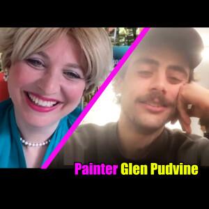Oriana Fox interviews Painter Glen Pudvine on The O Show live edition on Instagram @mimosahouselondon