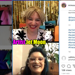Oriana Fox interviews Artist Jet Moon on The O Show live edition on Instagram @mimosahouselondon