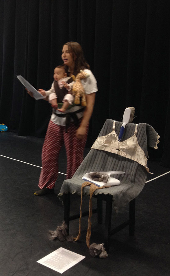 Remains performed at the 'Motherhood and Creative Practice' conference at London Southbank University, London, June 2015