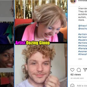 Oriana Fox interviews Artist Oozing Gloop on The O Show live edition on Instagram @mimosahouselondon
