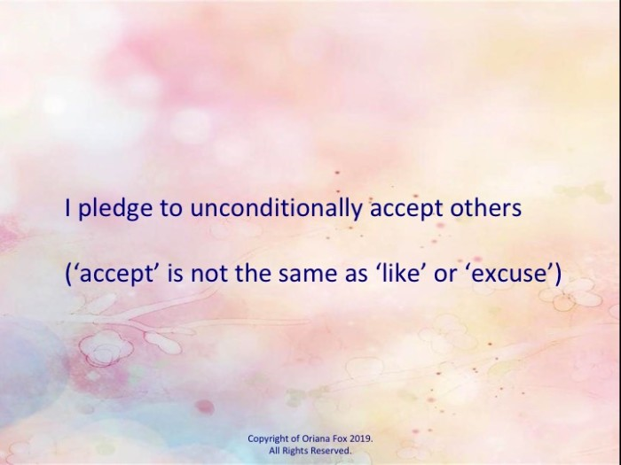 NB: 'accept is not the same as 'like' or 'excuse'