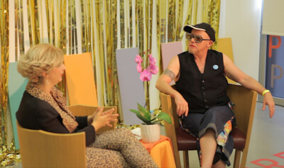 Guest, Del La Grace Volcano on The O Show: Female Masculinity (video still)